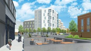 Rendering of all-affordable housing complex approved by City Council with Ramirez-Rosa's support